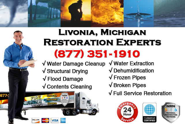 Livonia Water Damage Repairs