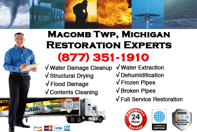 Macomb Township Water Damage Repairs