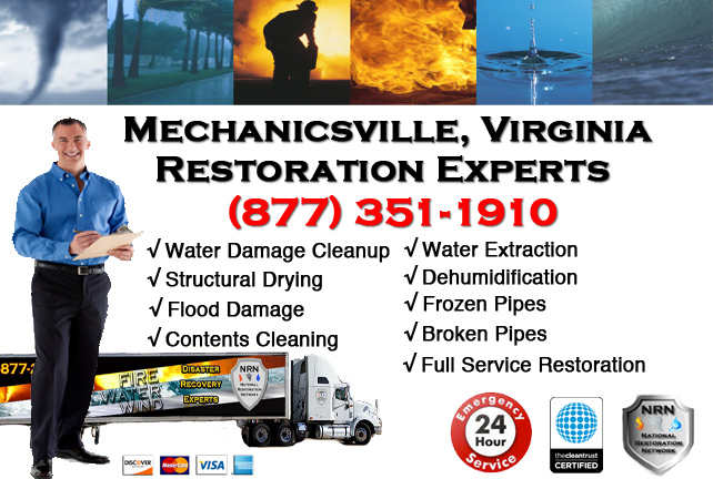 Mechanicsville Water Damage Restoration