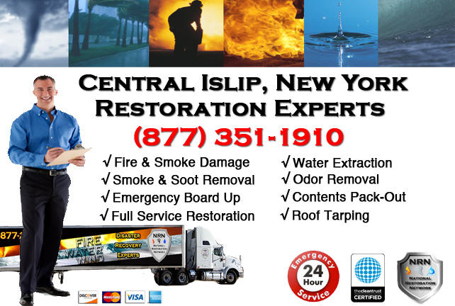 Central Islip Fire Damage Restoration Contractor