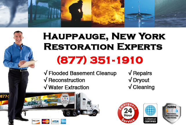 Hauppauge Flooded Basement Cleanup