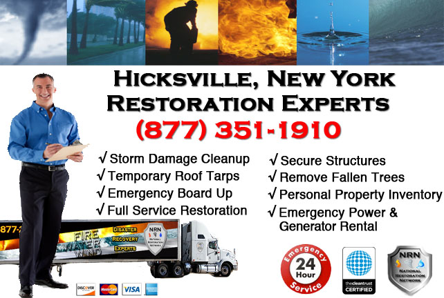 Storm Damage Repairs and Cleanup Hicksville NY