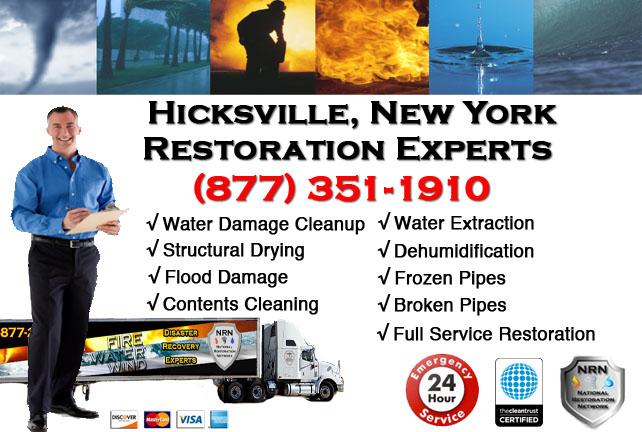 Hicksville Water Damage Restoration