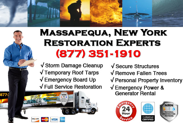 Storm Damage Repairs and Cleanup Massapequa NY