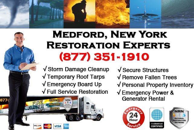 Storm Damage Repairs and Cleanup Medford NY