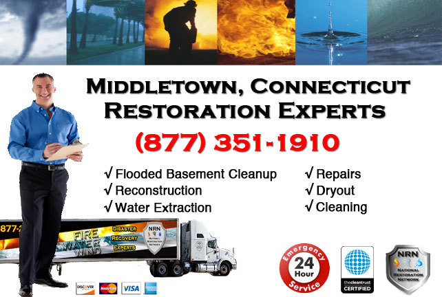 Middletown Flooded Basement Cleanup