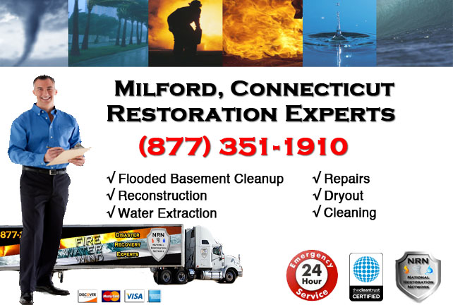 Milford Flooded Basement Cleanup