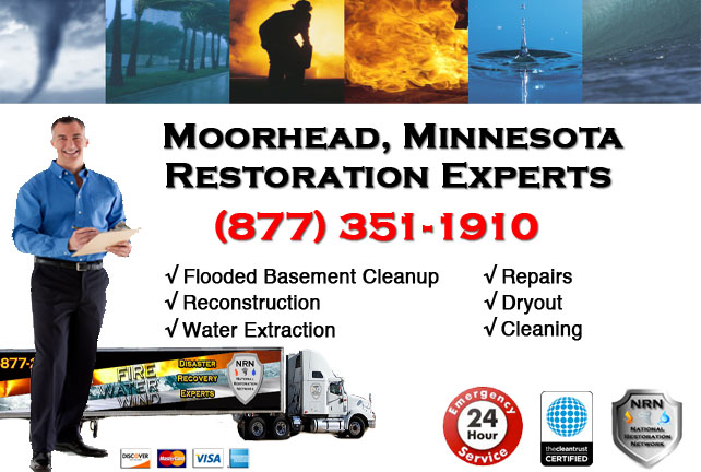 Moorhead Flooded Basement Cleanup