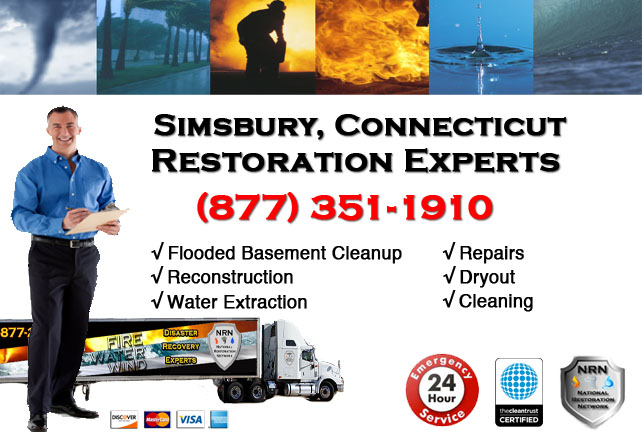 Simsbury Flooded Basement Cleanup