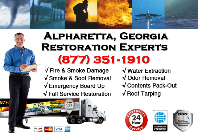 Alpharetta Fire Damage Cleanup Contractor