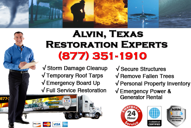 Alvin Storm Damage Cleanup