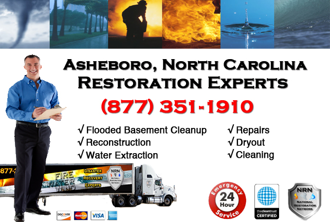 Asheboro Flooded Basement Cleanup