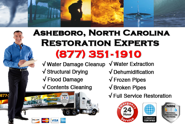 Asheboro Water Damage Restoration