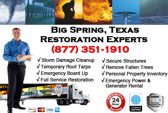 Big Spring Storm Damage Cleanup