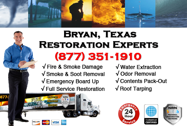 Bryan Fire Damage Restoration Contractor