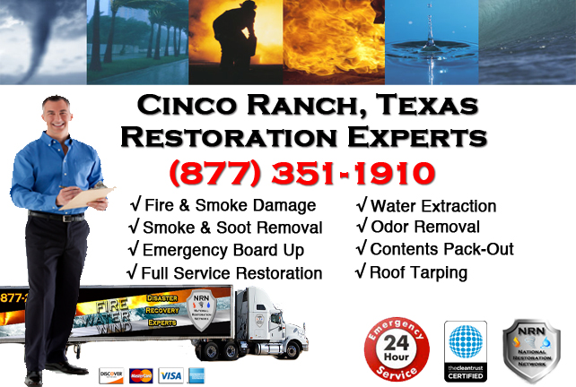 Cinco Ranch Fire Damage Restoration Contractor