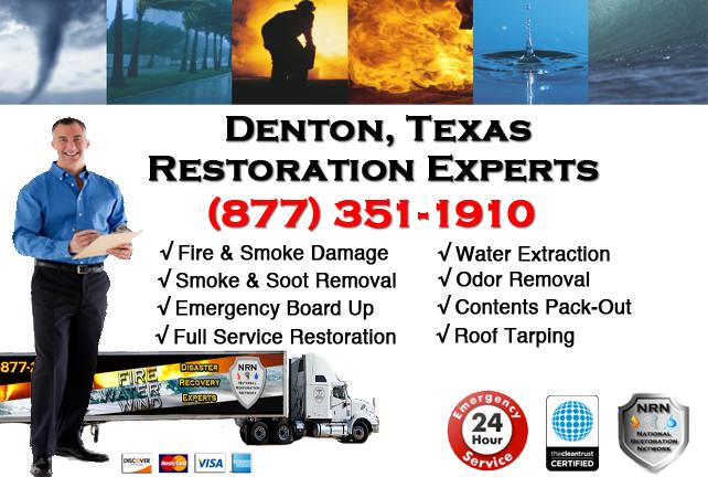 Denton Fire Damage Restoration Contractor