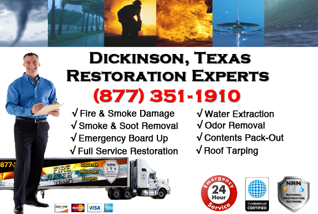 Dickinson Fire Damage Restoration Contractor
