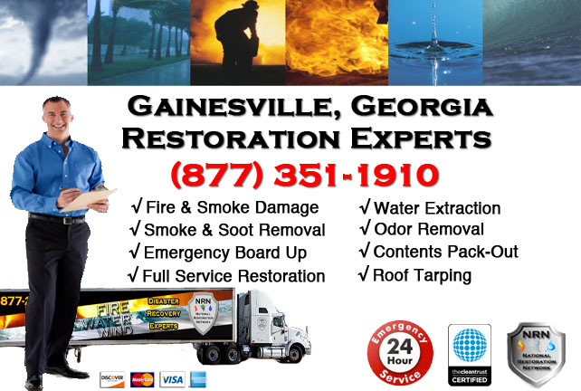 Gainesville Fire Damage Cleanup Contractor