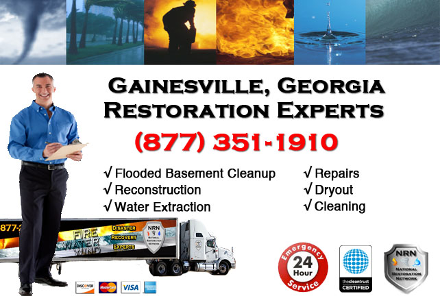 Gainesville Flooded Basement Cleanup