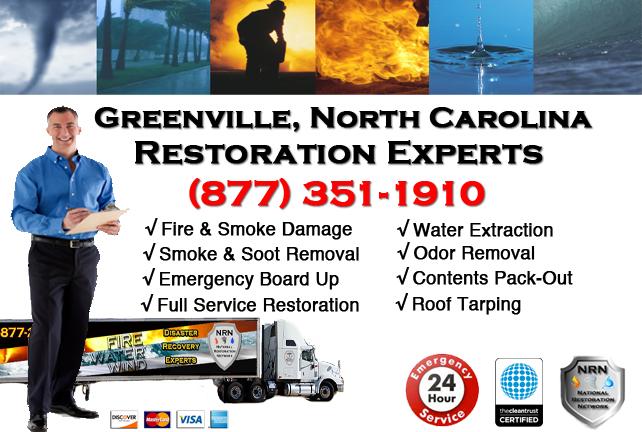 Greenville Fire Damage Restoration Contractor