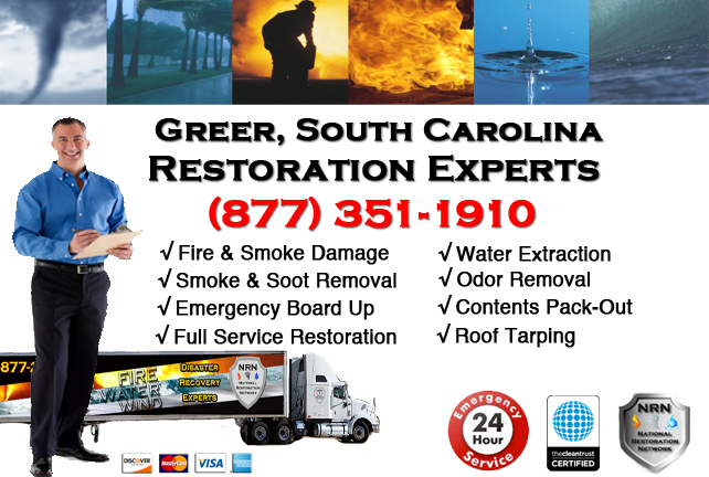 Greer Fire Damage Restoration Contractor