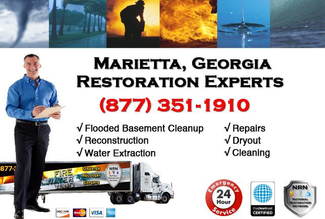 Marietta Flooded Basement Cleanup