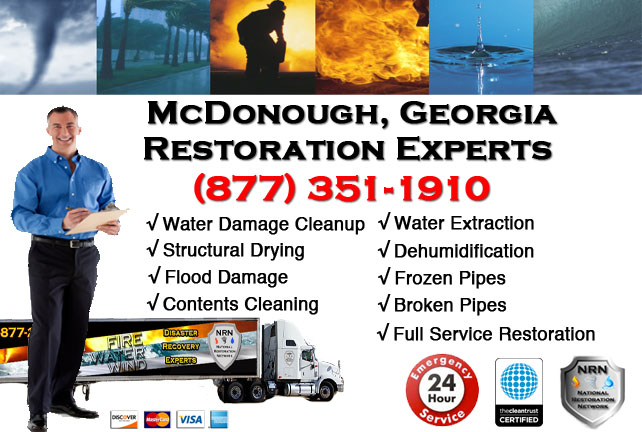 McDonough Water Damage Restoration