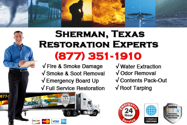 Sherman Fire Damage Restoration Contractor