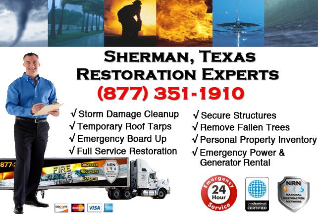 Sherman Storm Damage Cleanup
