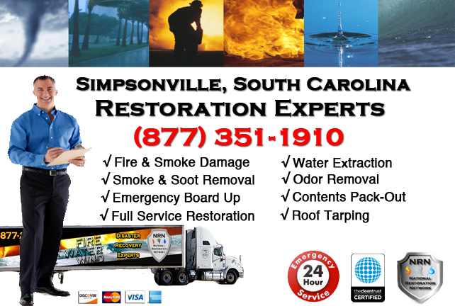 Simpsonville Fire Damage Restoration Contractor