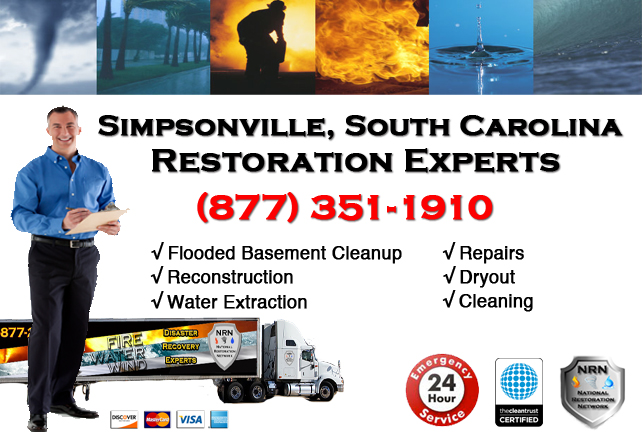 Simpsonville Flooded Basement Cleanup