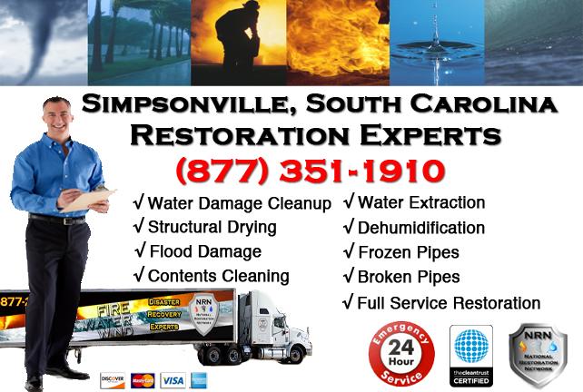 Simpsonville Water Damage Restoration