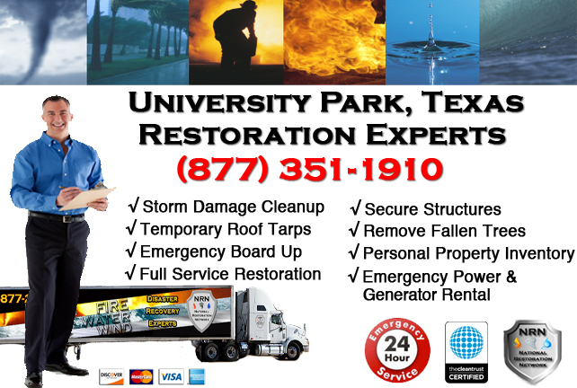 University Park Storm Damage Cleanup