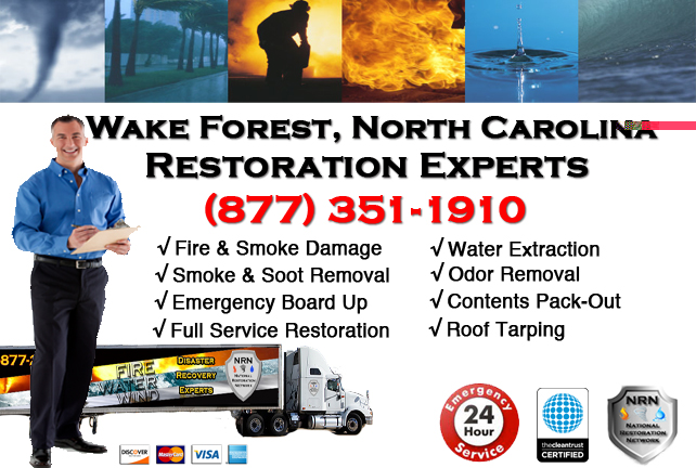 Wake Forest Fire Damage Restoration Contractor