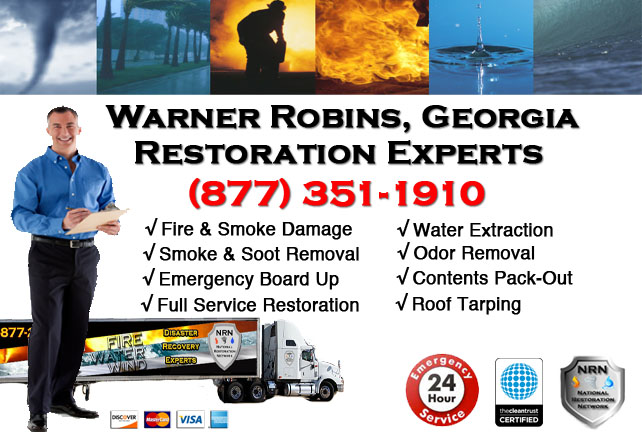 Warner Robins Fire Damage Cleanup Contractor