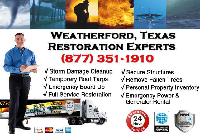 Weatherford Storm Damage Cleanup