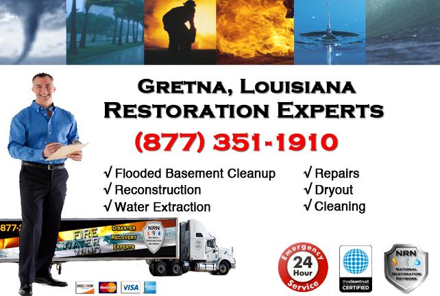Gretna Flooded Basement Cleanup