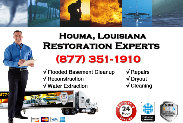Houma Flooded Basement Cleanup