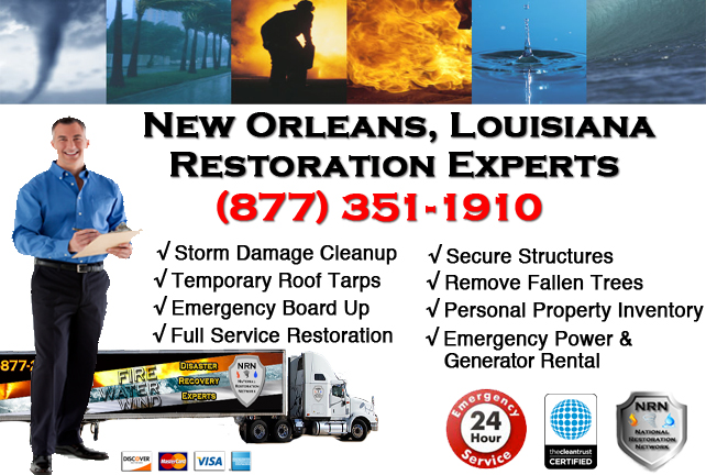 New Orleans Storm Damage Cleanup