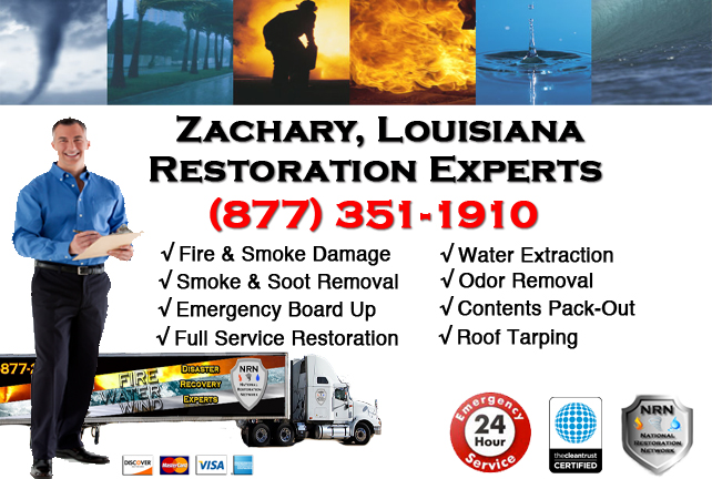 Zachary Fire Damage Restoration Contractor