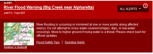 georgia river flood warning