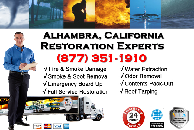 Alhambra Fire Damage Restoration Contractor