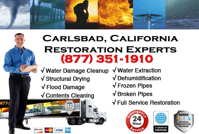Carlsbad water damage repairs