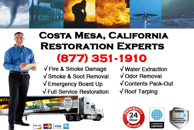 Costa Mesa Fire Damage Restoration Contractor