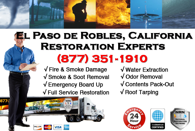 El Paso de Robles Fire Damage Restoration Contractor