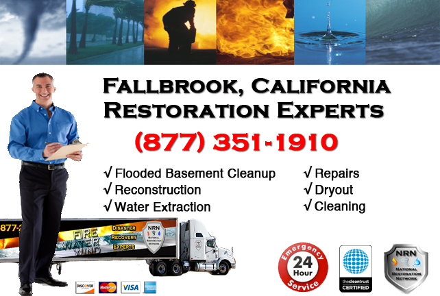 Fallbrook Flooded Basement Cleanup