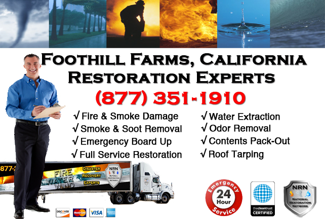 Foot Hill Farms Fire Damage Restoration Contractor