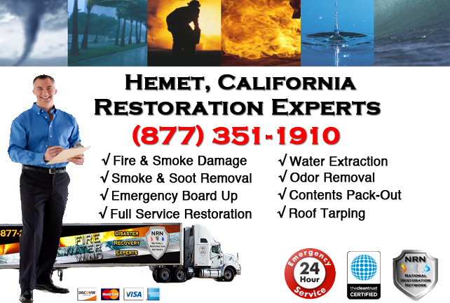 Hemet Fire Damage Restoration Contractor