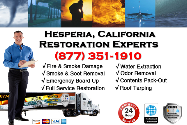 Hesperia Fire Damage Restoration Contractor